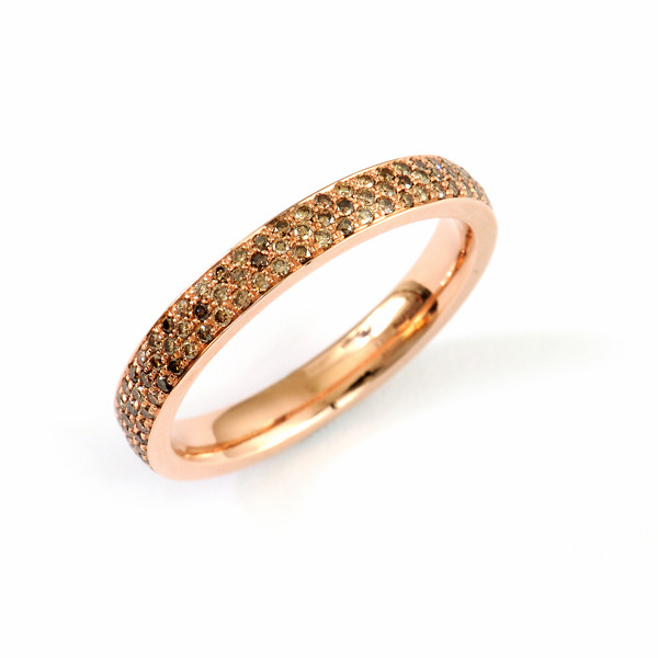 Goldschmiede Mojo Design Verlobungsring Brillanten Rotgold
